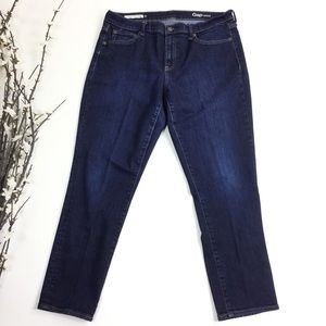 Gap 1969 Dark Wash Girlfriend Straight Jeans